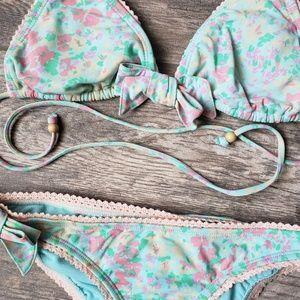 Tracy Feith Target Floral Crochet Bow Bikini